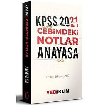 Yediiklim Yayýnlarý 2021 Kpss Cebimdeki Notlar Anayasa