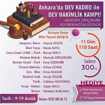 Mustafa Dinçdemir Koordinatörlüðün de Ankara da Dev Kadro ile Adli, Ýdari Hakimlik Kampý