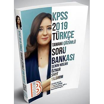 Benim Hocam Yayýnlarý 2019 KPSS Türkçe Tamamý Çözümlü Soru Bankasý