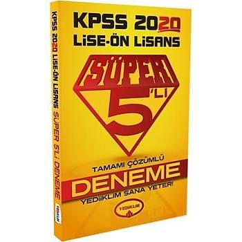 Yediiklim 2020 KPSS Lise Ön Lisans GYGK Süper 5 li Deneme Çözümlü Yediiklim Yayýnlarý