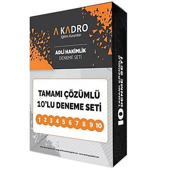 A Kadro Adli Hakimlik Deneme Sýnavý Tamamý Çözümlü 10 Deneme