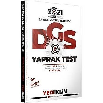 Yediiklim Yayýnlarý 2021 Prestij Serisi DGS Çek Kopart Yaprak Test