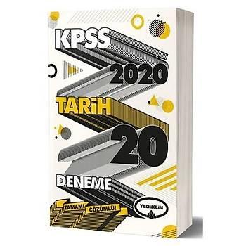 KPSS Genel Kültür Tarih Tamamý Çözümlü 20 Deneme Sýnavý Yediiklim Yayýnlarý 2020