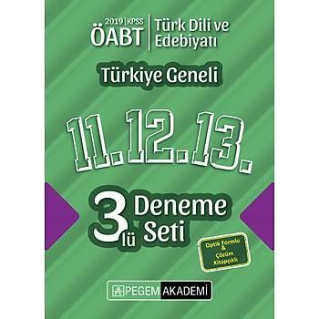 Pegem 2019 ÖABT Türk Dili ve Edebiyatý Öðretmenliði Türkiye Geneli 3 Deneme (11.12.13) Pegem Akademi Yayýnlarý