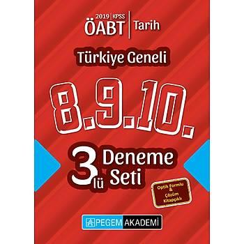 Pegem 2019 ÖABT Tarih Öðretmenliði Türkiye Geneli 3 Deneme (8.9.10) Pegem Akademi Yayýnlarý