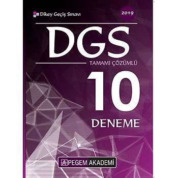 2019 DGS TAMAMI ÇÖZÜMLÜ 10 DENEME  PEGEM YAYINLARI