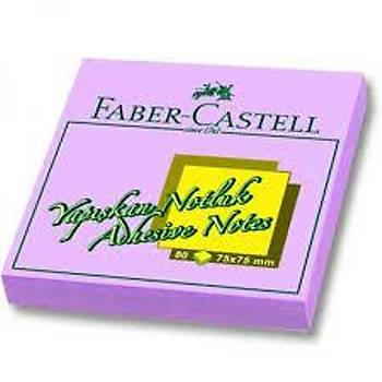 FABER CASTELL YAPIÞKAN NOTLUK 75X75MM POST-IT ( MOR)