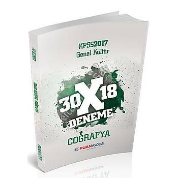 PUAN AKADEMÝ YAYINLARI 2017 KPSS GENEL KÜLTÜR COÐRAFYA 30X18 DENEME