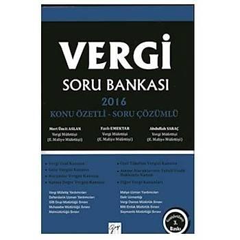 Gazi Vergi Soru Bankasý - Ümit Aslan, Fazlý Emektar, Abdullah Saraç