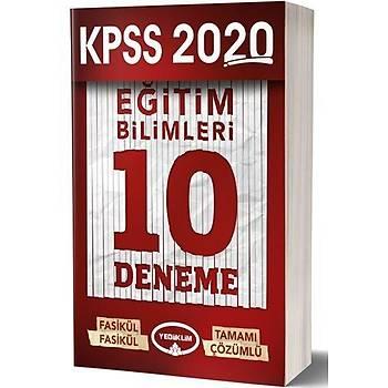 Yediiklim 2020 KPSS Eðitim Bilimleri 10 Deneme Çözümlü Yediiklim Yayýnlarý