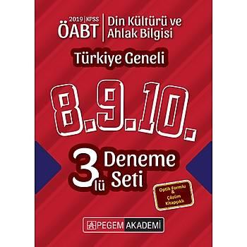 Pegem 2019 ÖABT Din Kültürü ve Ahlak Bilgisi Öðretmenliði Türkiye Geneli 3 Deneme (8.9.10) Pegem Akademi Yayýnlarý