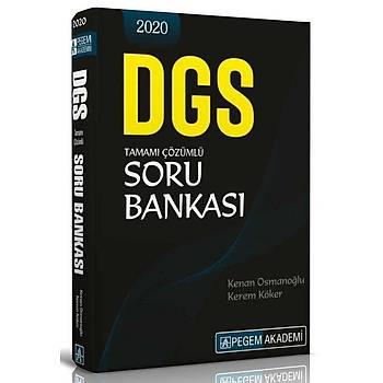 Pegem 2020 DGS Soru Bankasý Çözümlü Pegem Akademi Yayýnlarý