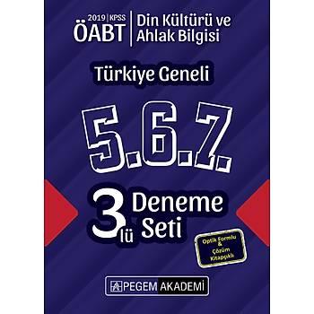 Pegem 2019 ÖABT Din Kültürü ve Ahlak Bilgisi Türkiye Geneli 3 Deneme (5.6.7) Pegem Akademi Yayýnlarý