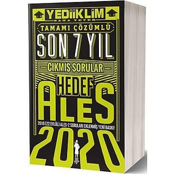 ALES Son 7 Yýl Tamamý Çözümlü Çýkmýþ Sorular Yediiklim Yayýnlarý 2020
