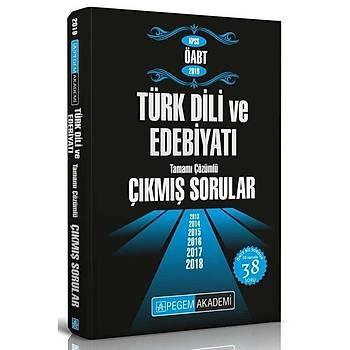 Pegem 2019 ÖABT Türk Dili ve Edebiyatý Çýkmýþ Sorular Çözümlü Pegem Akademi Yayýnlarý