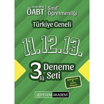 Pegem 2019 ÖABT Sýnýf Öðretmenliði Türkiye Geneli 3 Deneme (11.12.13) Pegem Akademi Yayýnlarý