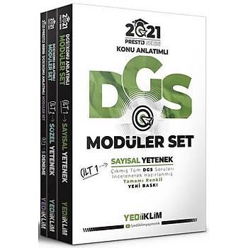 Yediiklim Yayýnlarý 2021 Prestij Serisi DGS Konu Anlatýmlý Modüler Set(Tamamý Renkli-3 Cilt)