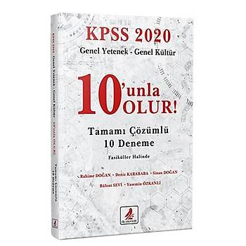 KPSS Genel Yetenek Genel Kültür 10 unla Olur 10 Deneme Çözümlü DB Yayýnlarý 2020
