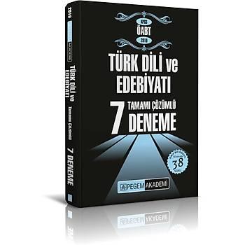 Pegem 2019 ÖABT Türk Dili ve Edebiyatý 7 Deneme Çözümlü Pegem Akademi Yayýnlarý