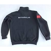 CAS-60 Dik Yaka Fermuarlý Sweatshirt