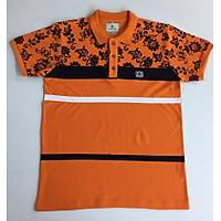 CAS-179 Çiçek Desen Baskýlý Polo Yaka Tshirt