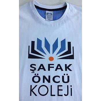 CAS-64 Arkasý Önden Uzun ve Etek Kýsmý Yýrtmaçlý O Yaka Okul Tshirt