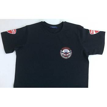 CAS-154 O Yaka Baskýlý Tshirt