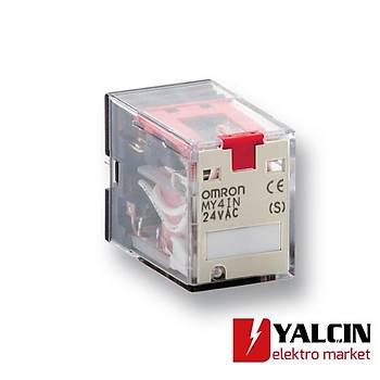Soket, DIN ray montajlý, 14 pinli (8 pinli MY2 rölelere de uymaktadýr), 2/2 seviyeli, vida terminalli OMR-PYF14-ESN-B