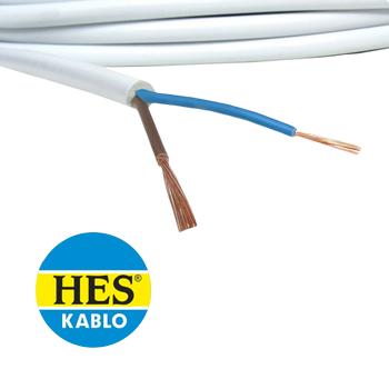 2x1,5 Halogen Free N2XH Beyaz Kablo H052XZ1-F