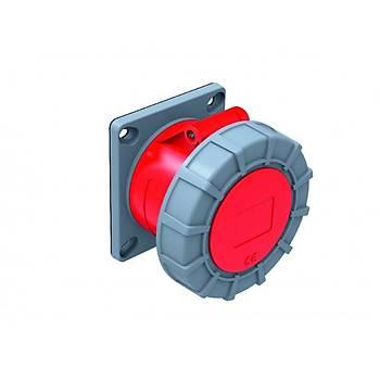 5x63A 45° Eðik Makine Priz Pilotlu IP44 BC1-4505-2420
