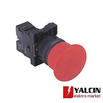 A5-01M  40mm Kayýcý 1NC Stop Mantar Buton - Kýrmýzý
