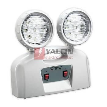 2x5W LED Acil Aydýnlatma Spotu 4 Saat 5514 1120 (203913)