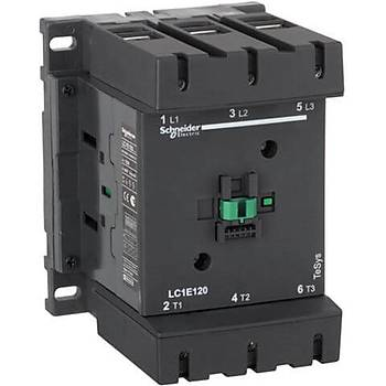 3 Kutuplu 30Kw Kontaktör Ac 220V  Lc1E120M5