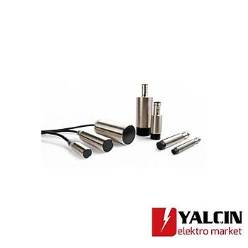 Endüktif sensör, pirinç-nikel, uzun gövde, M12, düz kafa, 4mm, DC, 3 kablolu, PNP-NA, M12 konnektör  OMR-E2B-M12LS04-M1-B1