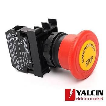 B200E-E 40mm Emergency Etiketli Mantar Acil Stop Butonu NC
