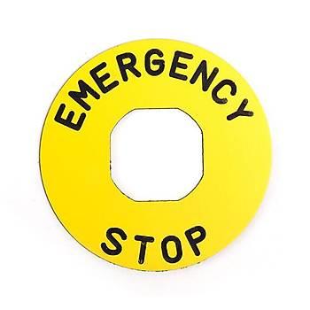 60 mm Plastik Acil Stop Buton Etiketi BET60P