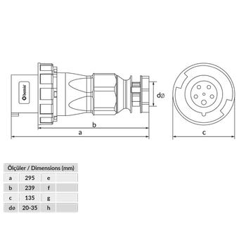 5x125A Düz Fiþ Pilotlu  IP67 BC1-6505-7011