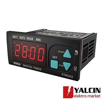 ETM2432 Dijital Zaman Röleleri 230VAC ENDA-ETM2432-230VAC