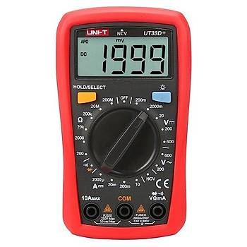UT 33D+ Dijital Multimetre ölçü aleti UT33D +