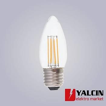 4W E27 Duylu Buji Filament LED Lamba 6500K Beyaz 5982 2060