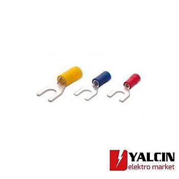 SFK-ÇK-8006 4,00-6,00mm Çatal Tip Ýzoleli Kablo Uçlarý