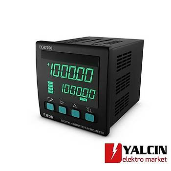 ECH7700 Sayýcý ve Takometre   ENDA-ECH7700-230VAC