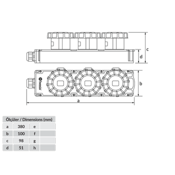 5x32A 3'lü CEE Grup Priz BG6-1019-1919