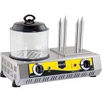 Remta  4'Kaz�k'l� Hot Dog Makinas� Elektrik'li 52,5x32x36,5