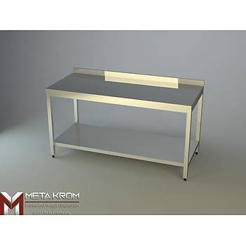 �ALI�MA TEZGAHI ALT TABLALI 140x60x85 - (304-18/10 Paslanmaz �elik)