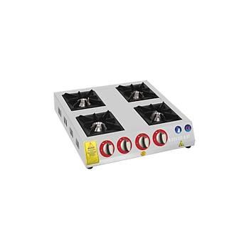 EMEKSAN - Eko Mini - Set �st� 4 Yan��l� Ocak Lpg-Do�algaz (CE) 60X60X14 Cm