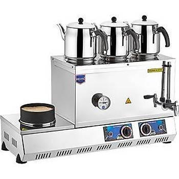 Remta 55 Model 3 Demlik'li �ay Oca�� - 33Lt (Kumda Kahve) Elektrik'li 74x35x39