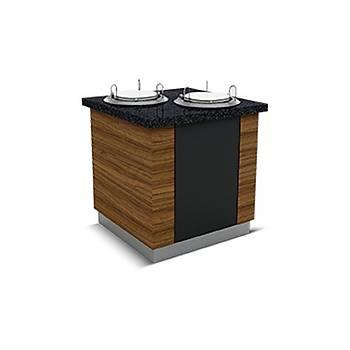 FO�A MODEL / Tabak Dispenseri 110X90X90 (2'Tabak'l� Is�tmal�)