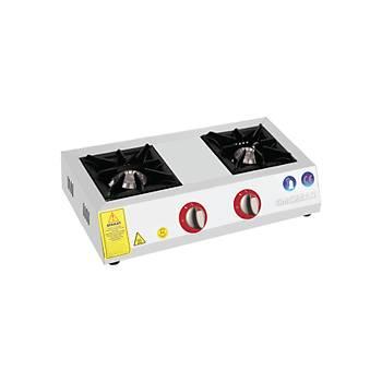 EMEKSAN - Eko Mini - Set �st� 2 Yan��l� Ocak Lpg-Do�algaz (CE) 60X32x14 Cm