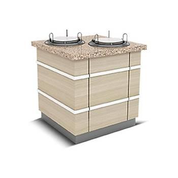 ALSANCAK MODEL / Tabak Dispenseri 110X90X90 (2'Tabak'l� N�tr)